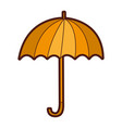 umbrella accessory isolated icon vector image