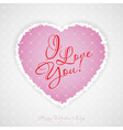 Valentines Day Greeting Card with Pattern vector image vector image