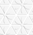 White flowers and triangles seamless vector image
