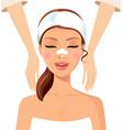 woman enjoying relaxing massage treatment concept vector image
