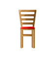 wooden chair with lamella back and soft red vector image vector image