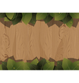 Wooden fence and lush foliage vector image vector image