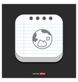 world globe icon gray icon on notepad style vector image vector image