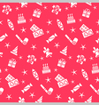 Holiday seamless pattern background vector image