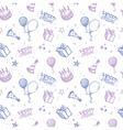 seamless birthday wallpaper vector image