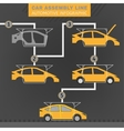 Car assembly line vector image
