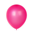 3d realistic colorful balloon birthday balloon vector image vector image