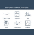 6 decorative icons vector image vector image