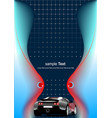 abstract futuristic background with car image vector image