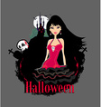 abstract portrait of a beautiful female vampire vector image vector image