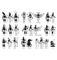 ancient egyptian god goddess and deities in stick vector image vector image
