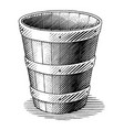 antique engraving basket hand draw vintage vector image vector image