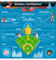 Baseball Infographics Elements vector image vector image