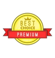 Best choice label icon cartoon style vector image vector image