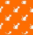 black cat pattern seamless vector image vector image