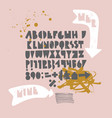 bold geometric playful font with ink texture vector image vector image