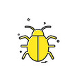 bug icon design vector image