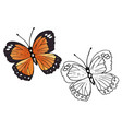 butterfly coloring set - vector image