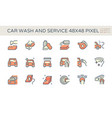 car care service icon 48x48 pixel perfect vector image