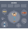 Car shop infographics vector image