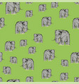 cartoon elephant seamless pattern vector image vector image