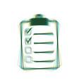 checklist sign colorful icon vector image vector image