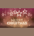 christmas bokeh background with glossy stars vector image