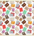 colorful books seamless pattern - school books vector image vector image
