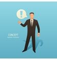 Concept business with businessman and vector image vector image