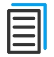 Copy Document Icon vector image vector image