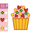 counting game for children count how many cupcake vector image vector image