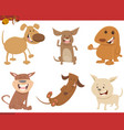 cute dog characters set vector image vector image