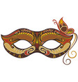 decorative carnival mask with butterfly vector image