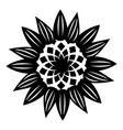 decorative flower icon simple style vector image vector image