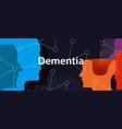 dementia alzheimer brain neurology health problem vector image