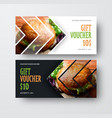 design gift voucher with arrows for the image vector image vector image