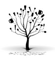 drunk tree-silhouette vector image vector image