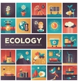 Ecology - modern flat design isquare icons vector image vector image