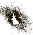 Female profile silhouette ink stains vector image vector image