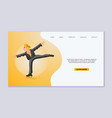figure scating web template olympic vector image