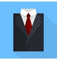Flat business jacket and tie Black color vector image vector image