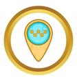 Geo taxi icon vector image vector image