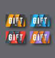 gift card template in a modern style of material vector image vector image
