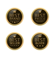 Golden best labels vector image vector image