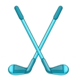 Golf clubs icon cartoon style vector image vector image