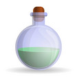green flask icon cartoon style vector image