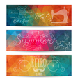 Grunge banner Abstract header background Triangl vector image vector image