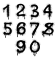 Grunge numbers with splatter text effect vector image vector image