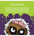 halloween background design - scientist zombie vector image vector image