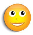 Happy smiley face vector image vector image